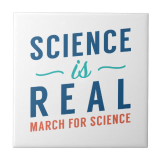 Science Is Real Small Square Tile
