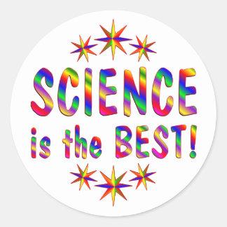 Science is the Best Round Sticker