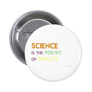 Science is the Poetry of Reality 6 Cm Round Badge
