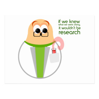 Science Lab Researcher Postcard