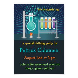 Science Laboratory Birthday Invitation