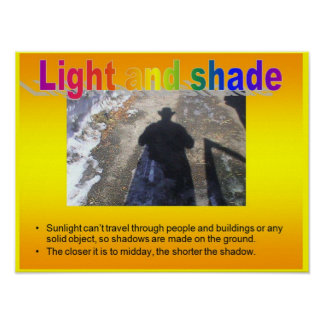 Science, Light and shade Poster