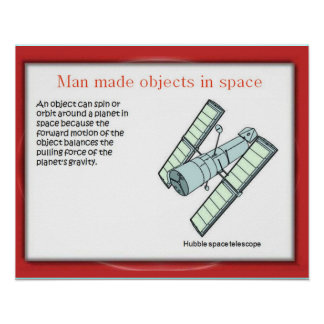 Science Man made objects in space Posters