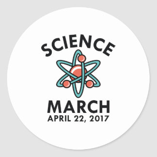 Science March Classic Round Sticker