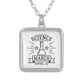 Science March Silver Plated Necklace
