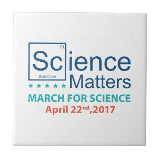 Science Matters Ceramic Tile