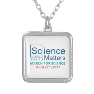 Science Matters Silver Plated Necklace