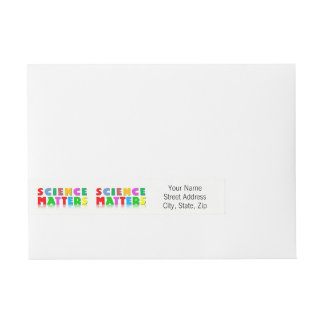 Science Matters Wraparound Address Label