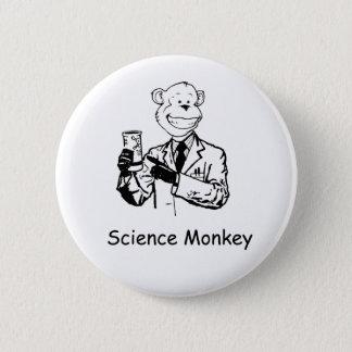 Science Monkey 6 Cm Round Badge
