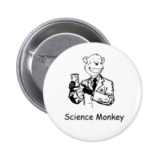 Science Monkey 6 Cm Round Badge