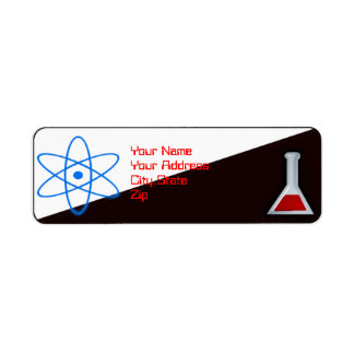 science nerd return address label