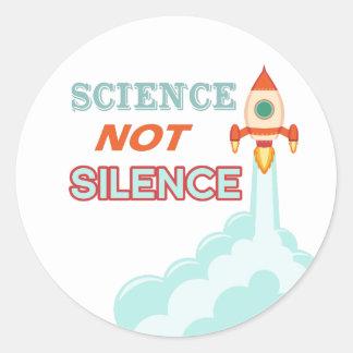 Science not silence rocket ship sticker