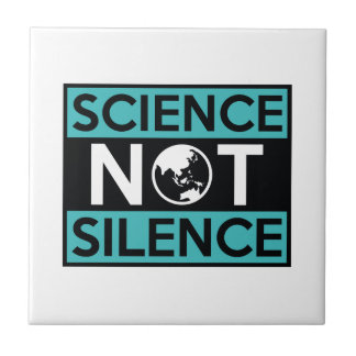 Science Not Silence Small Square Tile