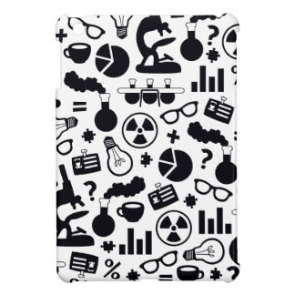 Science Pattern black on white iPad Mini Cases