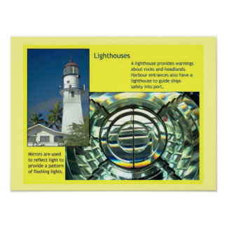 Science,  Physics, Lighthouse Poster