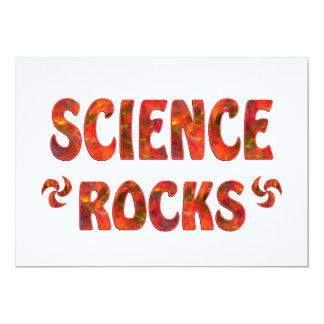 "SCIENCE ROCKS 5"" X 7"" INVITATION CARD"
