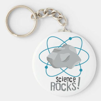 Science Rocks! Basic Round Button Key Ring