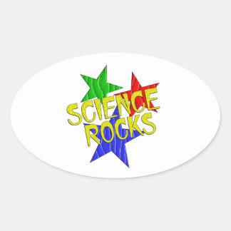Science Rocks Oval Sticker