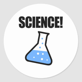 Science! Round Sticker