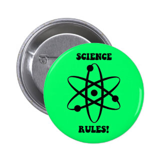 science rules 6 cm round badge