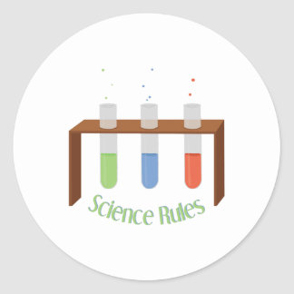 Science Rules Classic Round Sticker