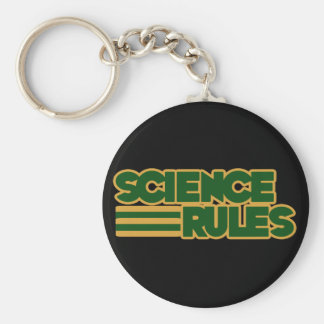 Science Rules Keychains