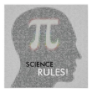 SCIENCE RULES | math pi number Poster