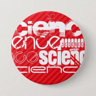 Science; Scarlet Red Stripes 7.5 Cm Round Badge