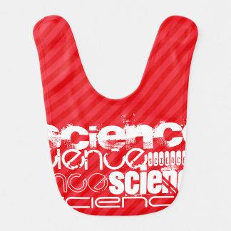 Science; Scarlet Red Stripes Baby Bibs