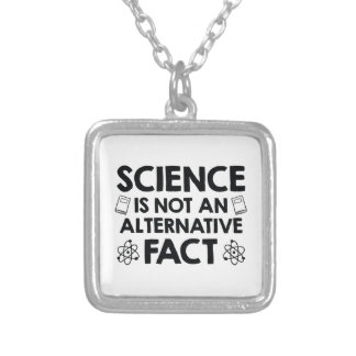 Science Silver Plated Necklace
