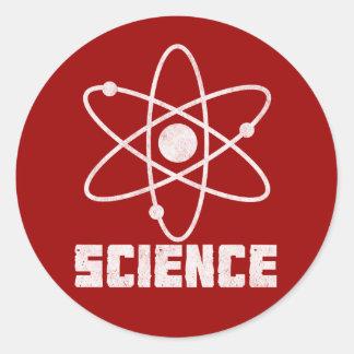 Science Round Sticker
