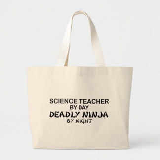 Science Teacher Deadly Ninja Jumbo Tote Bag