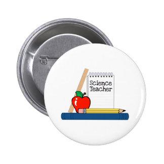 Science Teacher (Notebook) 6 Cm Round Badge