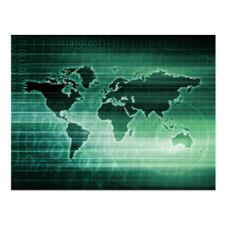 Science Technology Worldwide Research Postcard