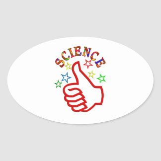Science Thumbs Up Oval Sticker