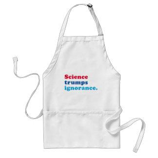 Science Trumps Ignorance Standard Apron