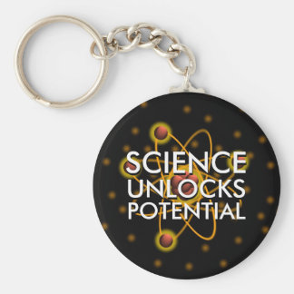 SCIENCE UNLOCKS POTENTIAL BASIC ROUND BUTTON KEY RING