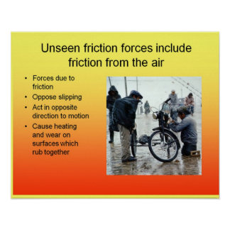 Science, unseen friction forces poster