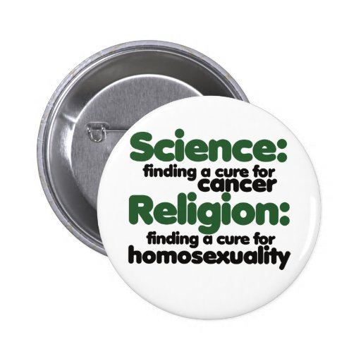 Science VS Religion Pinback Button