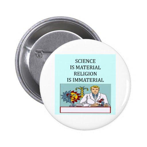 science vs religion joke pin