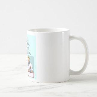 science vs religion joke basic white mug