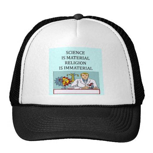 science vs religion joke trucker hat