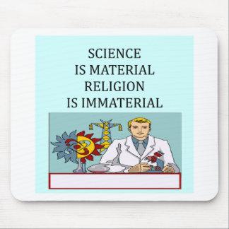 science vs religion joke mouse mats