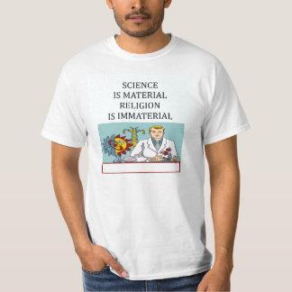science vs religion joke T-Shirt
