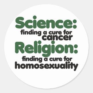 Science VS Religion Round Sticker