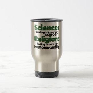 Science VS Religion Stainless Steel Travel Mug
