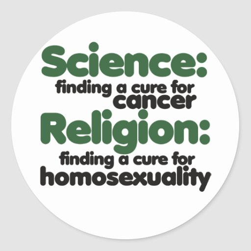 Science VS Religion Stickers