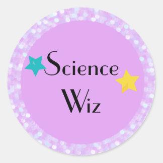 Science Wiz with Stars Classic Round Sticker