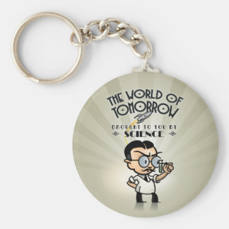 Science World of Tomorrow Basic Round Button Key Ring