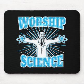 Science Worship Funny Geek & Atheist Anti-Religion Mouse Pad
